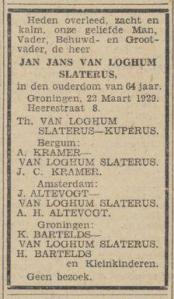 Nieuwsblad van het Noorden, 23-03-1929