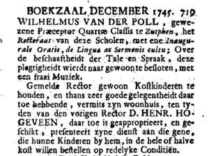 Boekzaal der geleerde waerelt, Deel 61. 1745