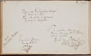 Albuminscriptie  van Rudolph van der Poll  voor Henricus Philippus Budde (1751-1795). Bron KB.