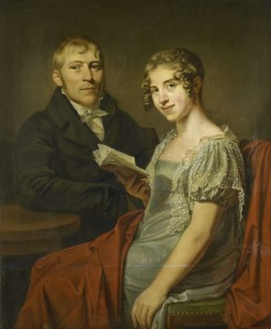 Hendrik Arend van den Brink (1783-1852) met zijn vrouw Lucretia Johanna van de Poll (1790-1850), Louis Moritz, 1805 - 1830. Bron: https://www.rijksmuseum.nl/nl/collectie/SK-A-2194