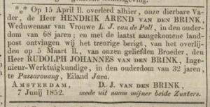 Opregte Haarlemsche Courant, 09-06-1852.