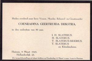 Overlijden CG Dijkstra 1945001