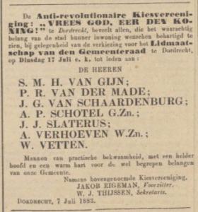 Dordrechtsche Courant, 17 juli 1883