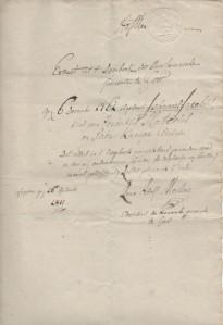 Uittreksel doopboek Goor, 1811