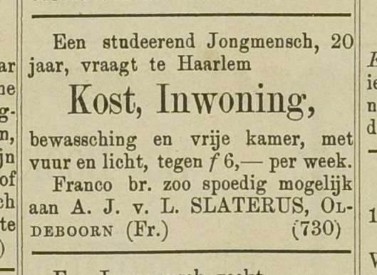 Haarlemsch Advertentieblad, 29 augustus 1888