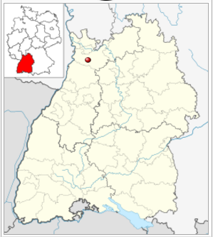 kaart Wiesloch