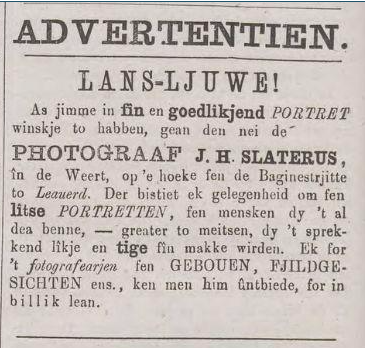 advertentie Friesch Volksblad