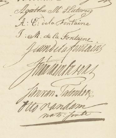 Handetkeningen Slaterus, de la Fontaine