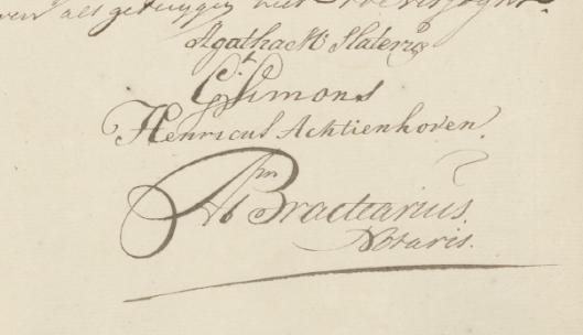 Handtekening Agatha Maria Slaterus 1757